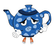 Innocent Teapot cartoon Royalty Free Stock Photography
