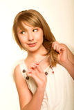 Innocent teen girl Royalty Free Stock Photo