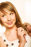 Innocent teen girl Royalty Free Stock Photos