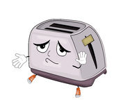 Innocent toaster cartoon Stock Photo