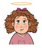 Innocent toddler girl. Cartoon illustration of an innocent toddler girl Stock Photo