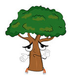 Innocent tree cartoon Royalty Free Stock Photography