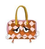 Innocent woman handbag cartoon Stock Photography