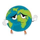 Innocent World globe cartoon Stock Image