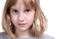 Innocent young girl. The face of a young girl with an innocent look Royalty Free Stock Photography