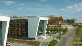 Innopolis is een nieuwe die stad in Rusland, in de Republiek Tatarstan wordt gevestigd stock videobeelden