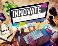 Innova el concepto de la invención de la inspiración de las ideas de la innovación fotos de archivo