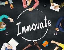 Innova el concepto de las ideas de la inspiración del planeamiento de la innovación imagen de archivo