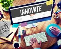 Innova el concepto de las ideas de la inspiración del planeamiento de la innovación foto de archivo libre de regalías