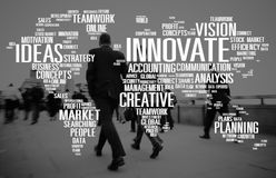 Innova il concetto di progresso di idee di creatività di ispirazione Fotografia Stock