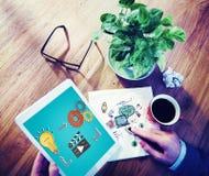 Innovación de conexión Conce creativo de la inspiración de la conexión de la idea foto de archivo libre de regalías
