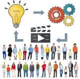 Innovación de conexión Conce creativo de la inspiración de la conexión de la idea Fotos de archivo