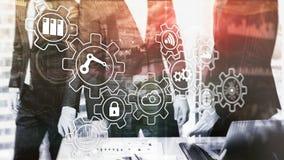 Innovación de la tecnología y automatización de proceso Industria elegante 4 libre illustration
