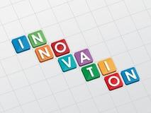 Innovación, diseño plano Imagenes de archivo