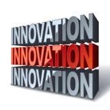 innovación roja de la palabra 3d Fotos de archivo libres de regalías