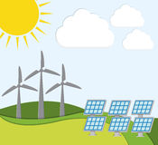Innovación verde de la energía Fotos de archivo