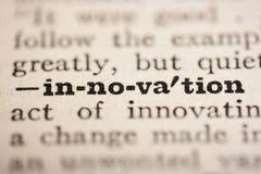 Innovación de la palabra Imagen de archivo libre de regalías