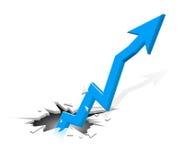 Innovador creciendo la flecha - azul stock de ilustración