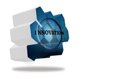 Innovate on abstract screen Stock Photos