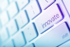 Innovate Button. Innovate Keyboard Button Concept. Abstract Technology Concept royalty free stock photos