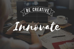 Innovate Creative Strategy Solution Design Concept Stock Photo
