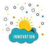 Innovate disign. Idea icon. Flat illustration , vector Royalty Free Stock Images