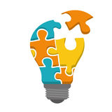 Innovate disign. Idea icon. Flat illustration , vector Royalty Free Stock Image