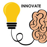 Innovate disign. Idea icon. Flat illustration , vector Stock Images