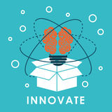 Innovate disign. Idea icon. Flat illustration , vector Royalty Free Stock Photo