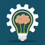 Innovate disign. Idea icon. Flat illustration , vector Royalty Free Stock Photos