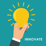 Innovate disign. Idea icon. Flat illustration , vector Stock Image