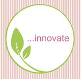 Innovate Green Leaf Logo Royalty Free Stock Photography