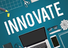 Innovate Innovation Invention Development Vision Concept. Innovate Innovation Invention Development Vision Royalty Free Stock Photos