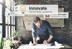 Innovate Innovation Technology Development Aspiration Concept.  stock photos