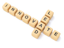 Innovate and Lead crosswords Stock Image