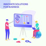 INNOVATE SOLUTIONS FOR BUSINESS stock illustration