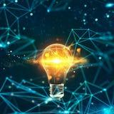 Innovatie in de digitale wereld het 3d teruggeven royalty-vrije stock foto's