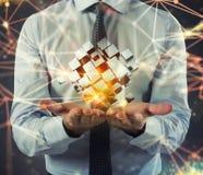 Innovatie in de digitale wereld het 3d teruggeven Stock Foto