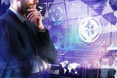 Innovatie en analyticsconcept Stock Afbeeldingen