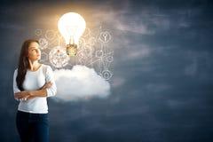 Innovatie en analyticsconcept Stock Afbeelding