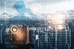 Innovatie en grafiekconcept stock afbeeldingen