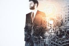 Innovatie en toekomstig concept stock afbeeldingen
