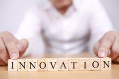 Innovatie, het Motievenconcept van Woordencitaten stock foto
