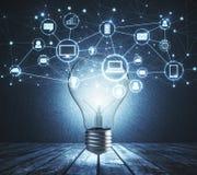 Innovatie, idee en financiënconcept Stock Foto