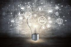 Innovatie, idee en media concept Stock Fotografie