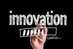 Innovatie op een conceptueel beeld stock afbeeldingen