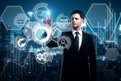 Innovatie, technologie en financiën Royalty-vrije Stock Afbeelding