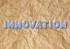 Innovatie Verfrommeld Document Stock Afbeeldingen