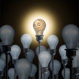 Innovatieconcept met gloeilampen Royalty-vrije Stock Fotografie