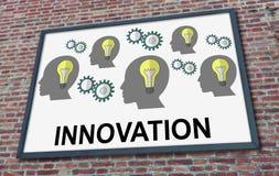 Innovatieconcept op een aanplakbord royalty-vrije illustratie